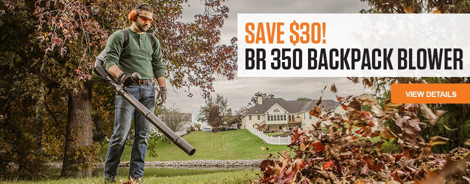 Save $30 on BR 350 Backpack Blower
